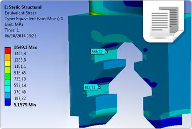 Análise estática e dinâmica de turbina