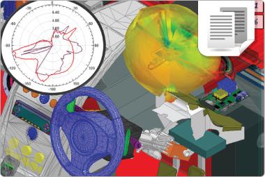 Simulação Eletromagnética de Antenas em Automóveis