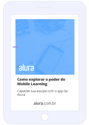 Mockup Como explorar o poder do Mobile Learning