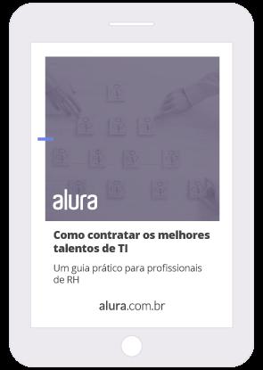 Mockup do eBook Como contratar os melhores talentos de TI