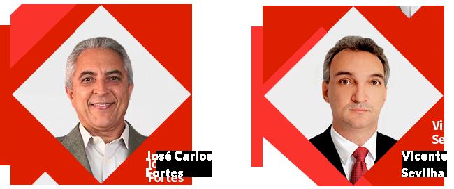 José Carlos Fortes e Vicente Servilha