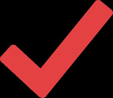imagem de checado em vermelho