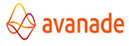 logo da avanade, cor laranja escrito avanade e um símbolo que parece ondas magnéticas