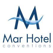 logo do Mar Hotel Conventions em azul escuro, com uma onda entre os traços da letra M