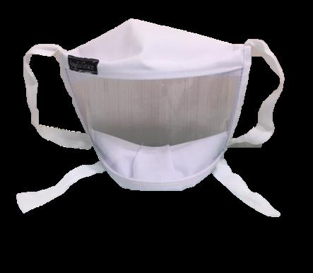 Foto de máscara 3D branca de frente