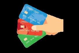 desenho de mão segurando cartões de crédito