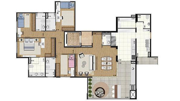 Apartamento com 188 m²