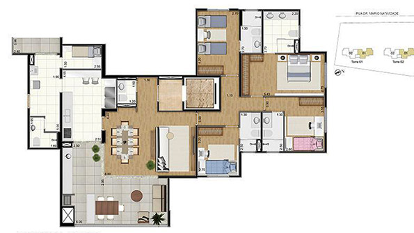 Apartamento com 189 m²