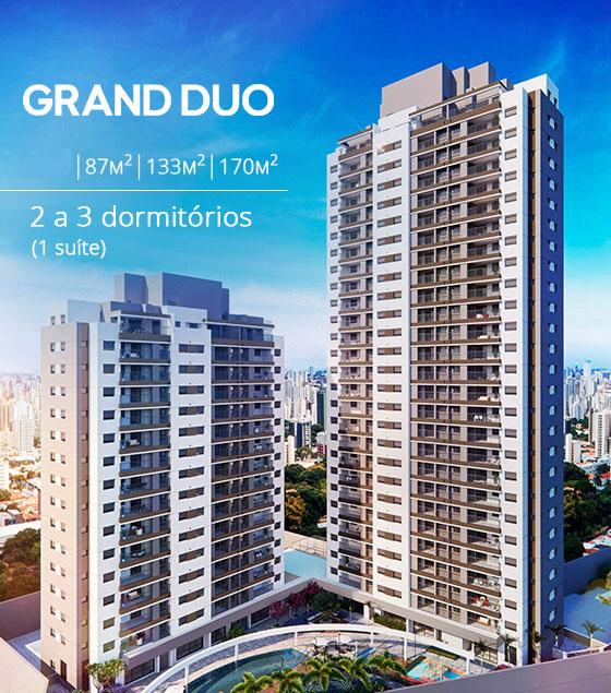 Grand Duo Guanabara - Apartamentos com 2 ou 3 dormitórios, de 87, 133 e 170 m²