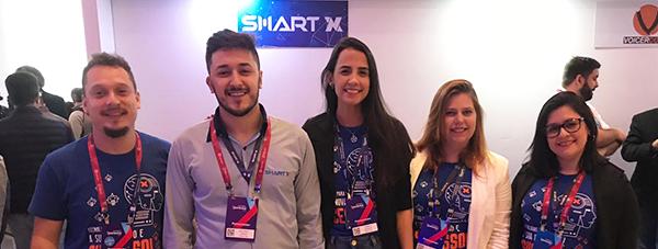 Equipe Smart NX no Superlógica Xperience 2019 apresentando soluções em tecnologia.