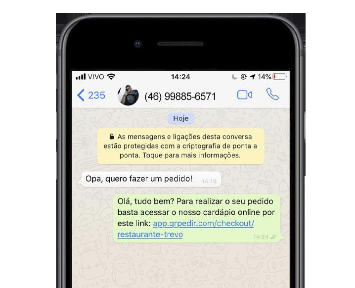 aplicativo de delivery whatsapp