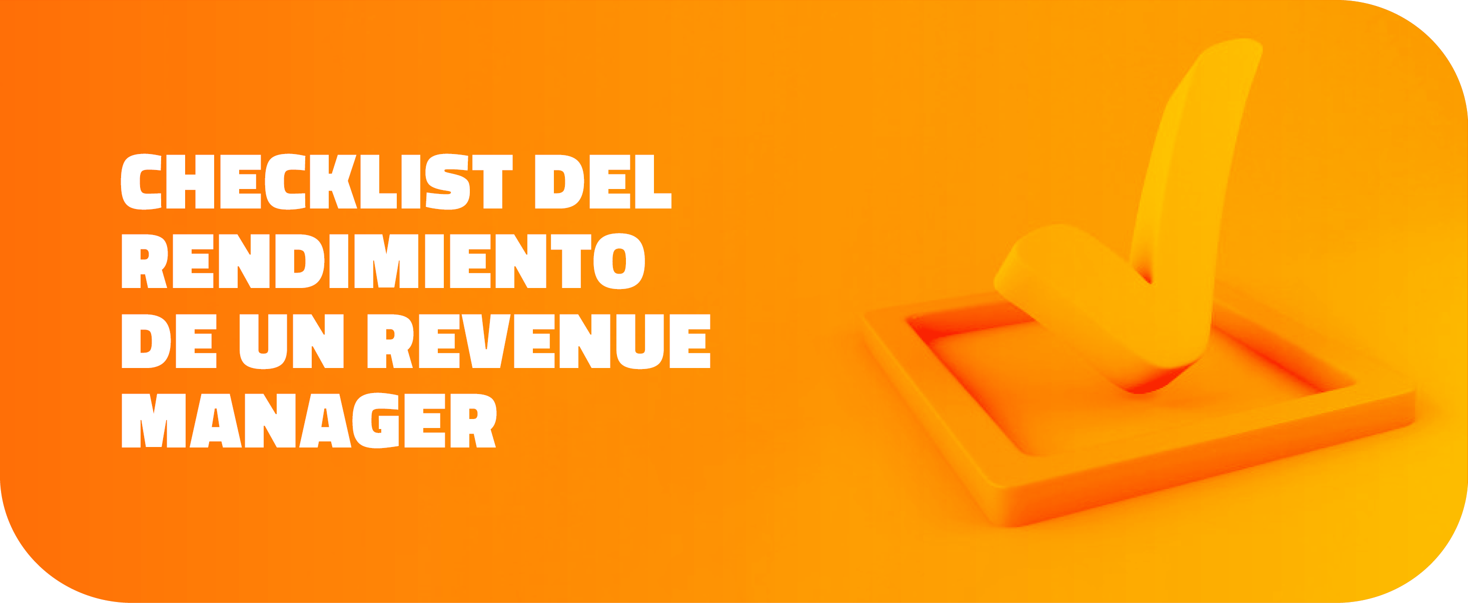 Checklist del rendimiento de um revenue manager