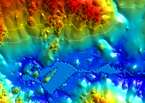 Discover raster grid used for hydrological analysis