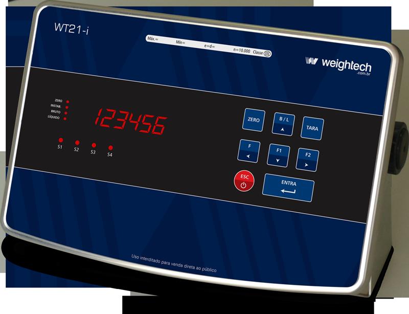 Indicador de pesagem Weightech WT21-i