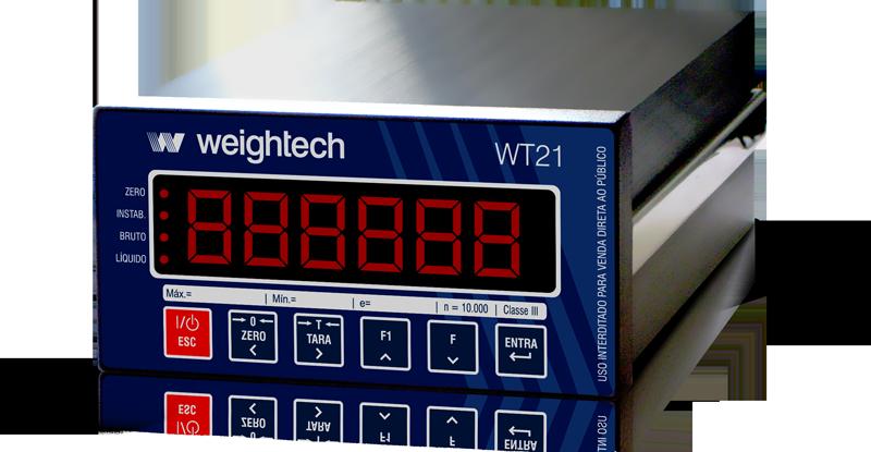 Indicador de pesagem Weightech WT21-Painel