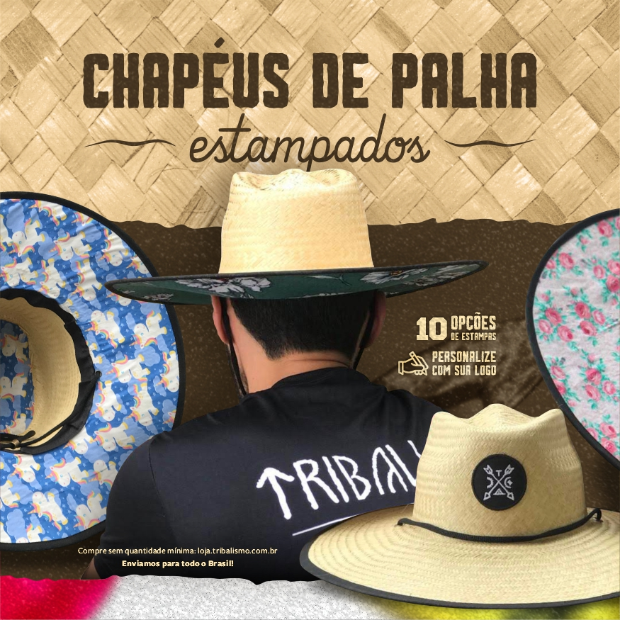 A Tribalismo personaliza chapeus de palha estampados do seu jeito