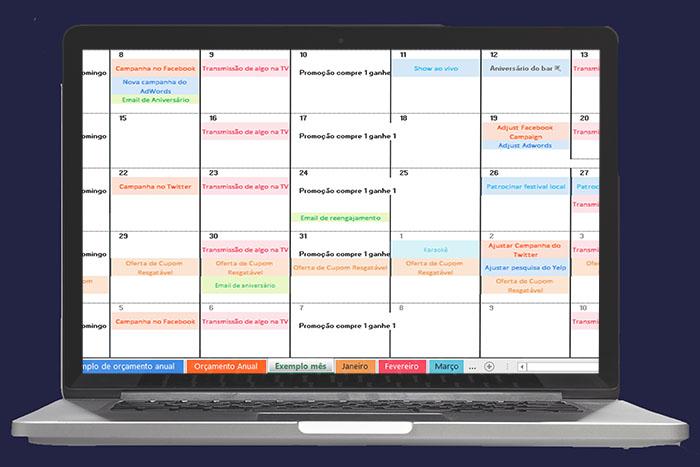 calendário para redes sociais