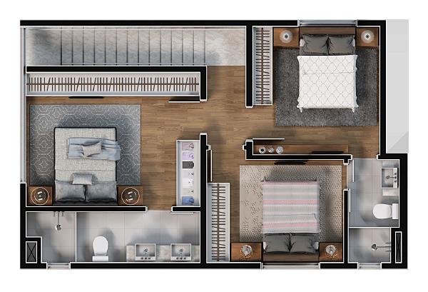 Apartamento com 3 quartos em Blumenau - Bella Cyntra