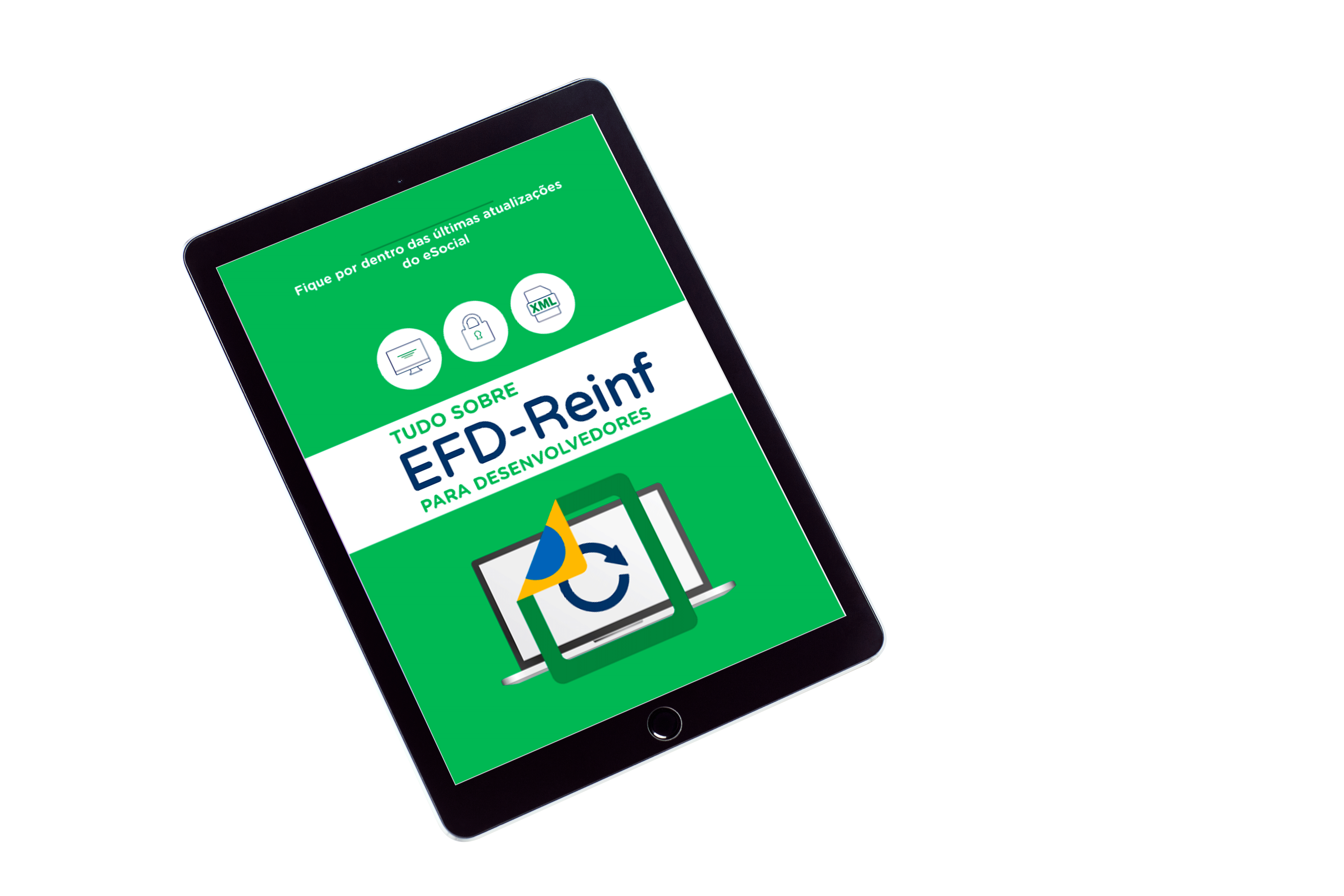 tablet com ebook efd-reinf