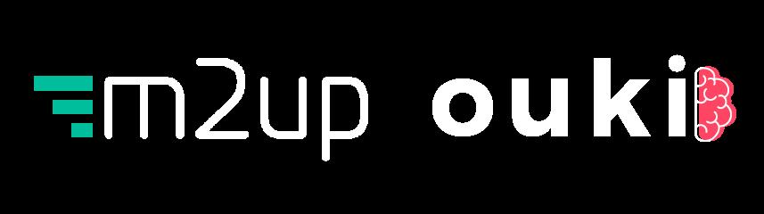 Logotipo da M2up e da Ouki