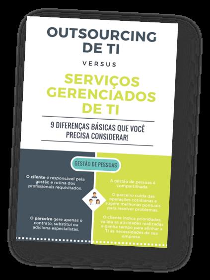 infográfico sobre outsourcing de TI e serviços gerenciados