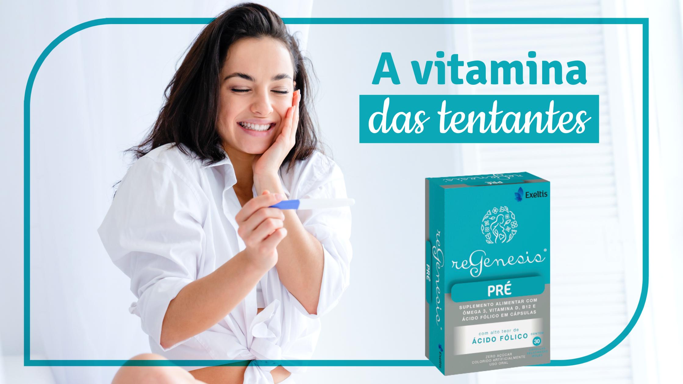 Banner Regenesis Pré - a vitamina das tentantes