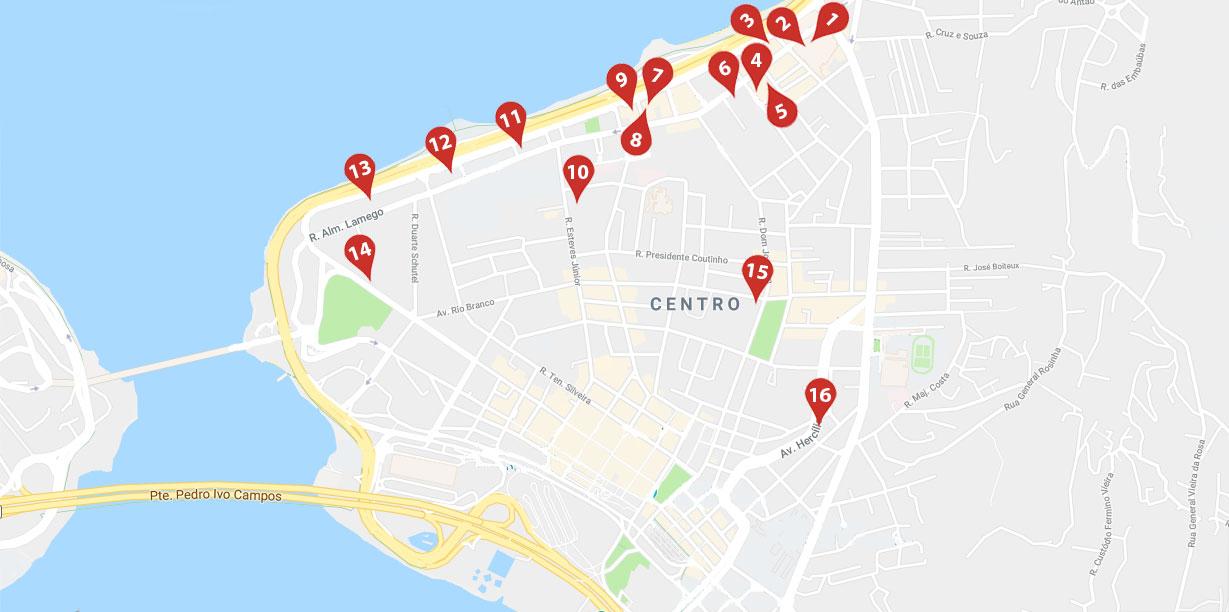 Mapa Restaurantes Centro