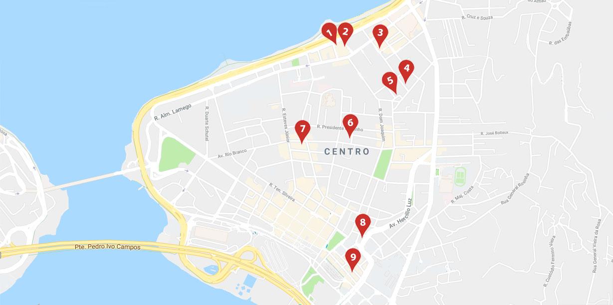 Opções de bares no Centro de Florianópolis