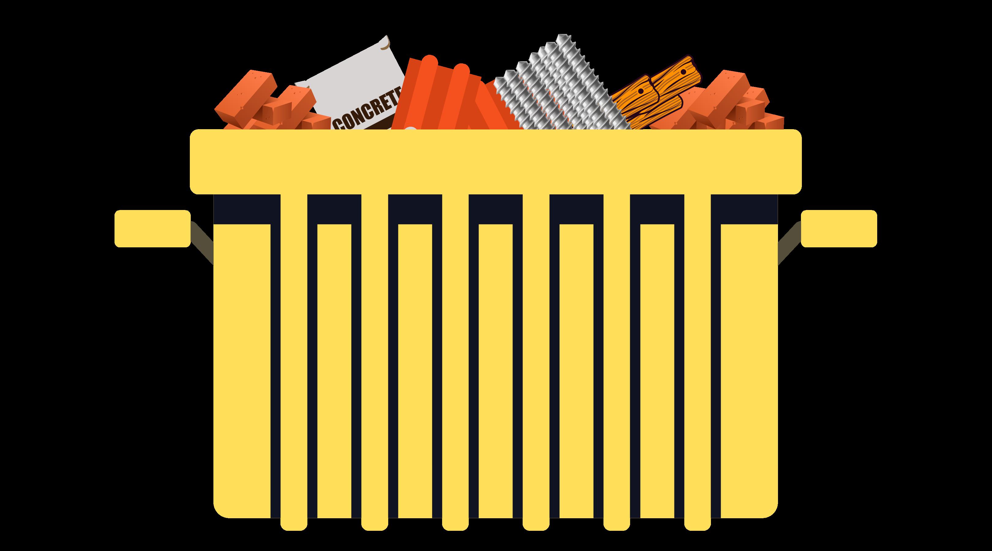 Caçamba de resíduos da construção