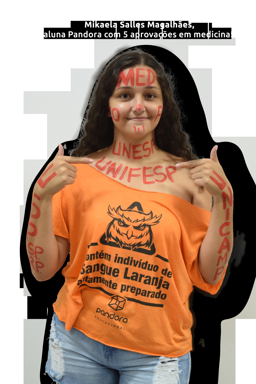 Mikaela Salles Magalhães, aluna Pandora