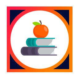 ícone pilha de livros