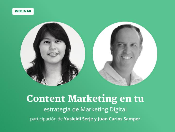 Content Marketing en tu estrategia de Marketing Digital