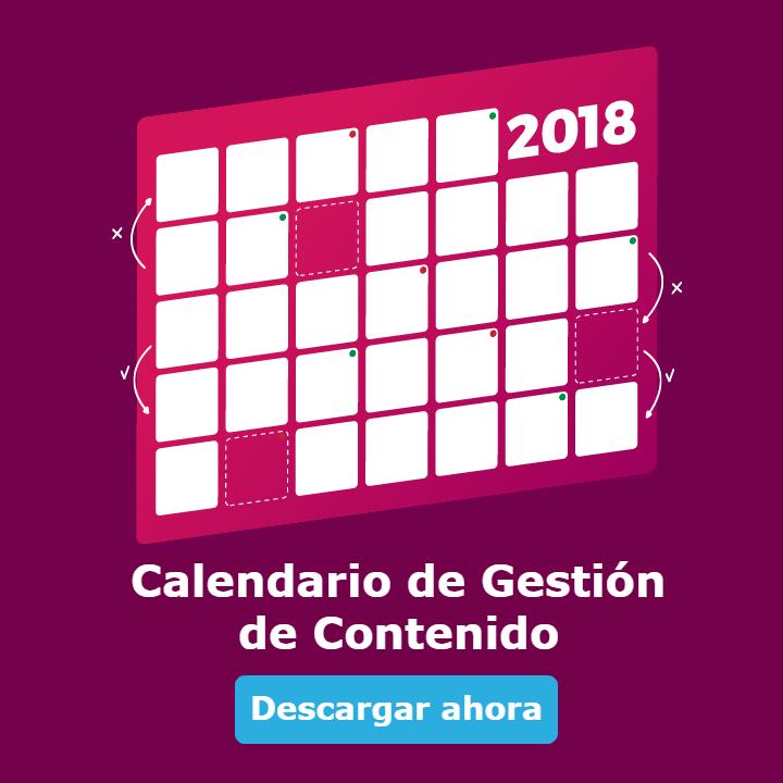 Calendario de Gestión de Contenido 2018