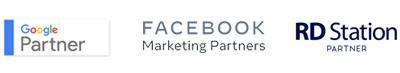 Certificações Google Partner, Facebook Marketing Partner e RD Station Partner