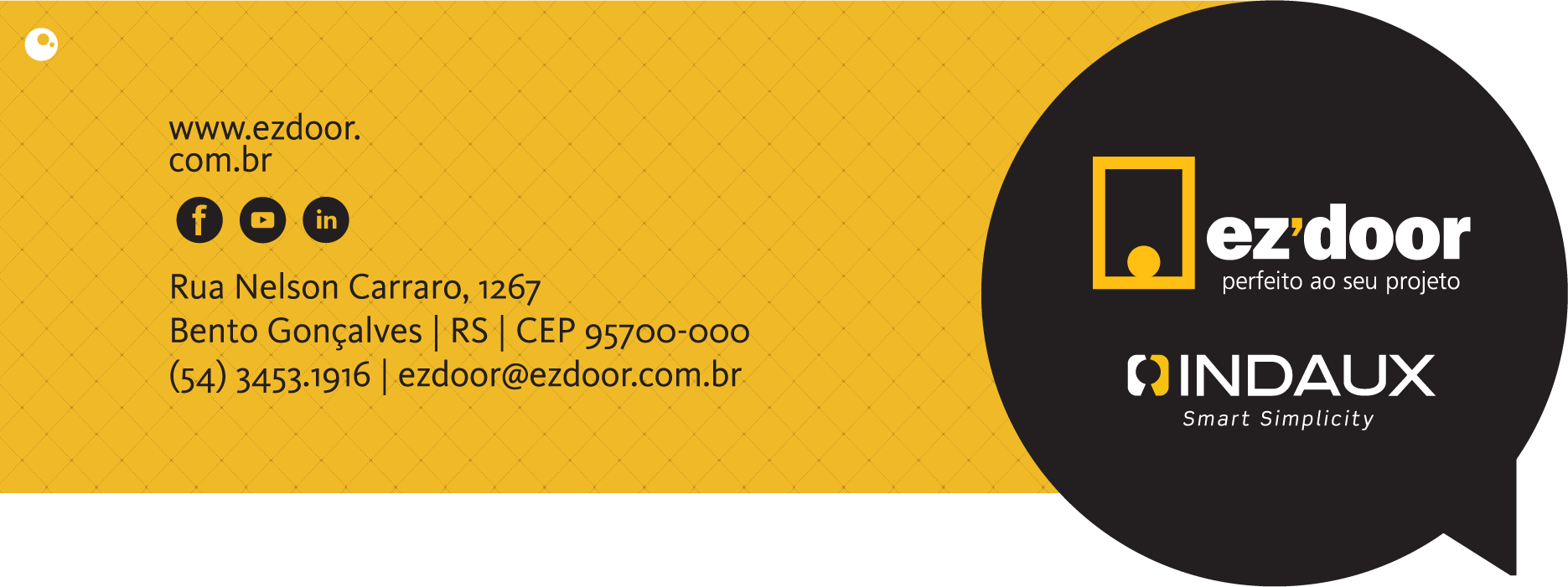 Ezdoor - Acesse nosso site e curta nosso Facebook
