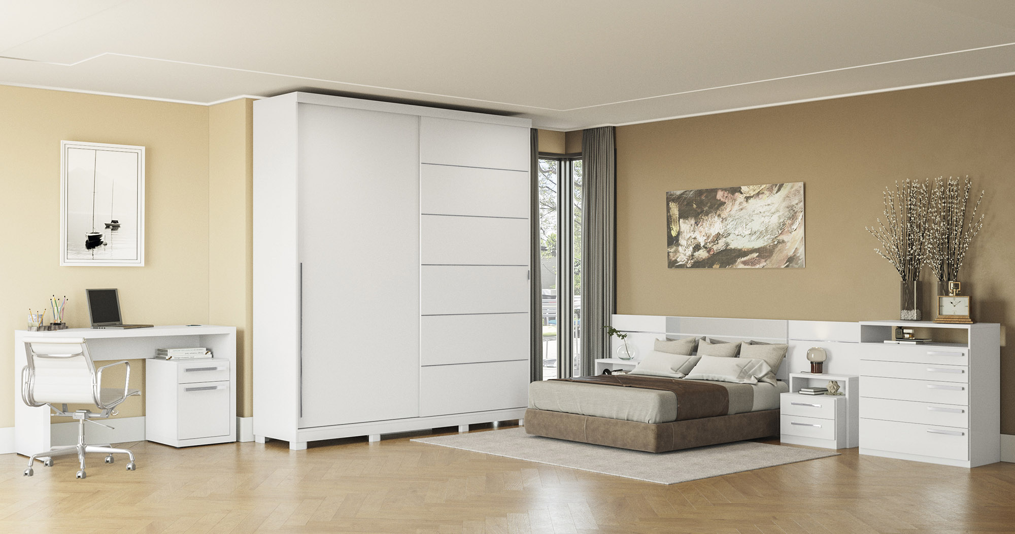 Dormitório branco