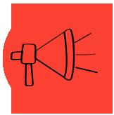 imagem de megafone: coloque seu plano em prática