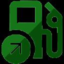 Ícone posto de combustível na cor verde
