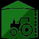 Ícone equipamento agrícola na cor verde