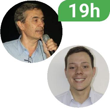 Foto dos palestrantes Silvio Gilberto Bertoloti e Estevan Coelho