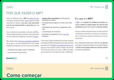 Imagem de um tablet verde mostrando a visualização de parte do e-book