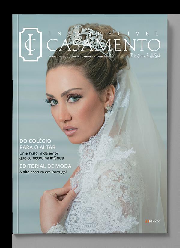 Capa da edição 26 da Inesquecível Casamento Rio Grande do Sul. Noiva: Fernanda Nichelle. Fotógrafo: Everton Rosa.
