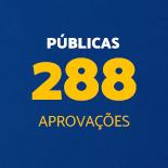 Públicas 288 Aprovações