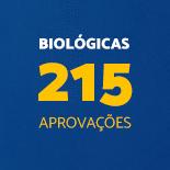 Biológicas 215 Aprovações