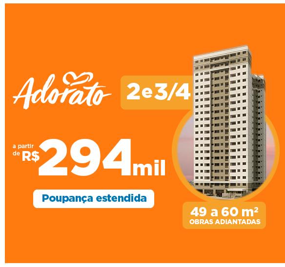Adorato - 2 e 3/4 a partir de R$ 294 mil