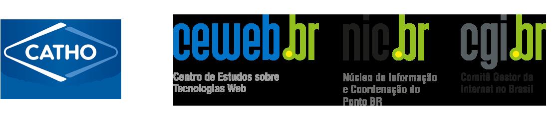 Logos da Catho, Ceweb.br, nic.br e cgi.br