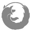 Símbolo do Firefox na cor cinza