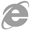 símbolo do Internet Explorer na cor cinza