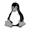 Símbolo do Linux na cor cinza
