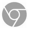 símbolo do Google Chrome na cor cinza